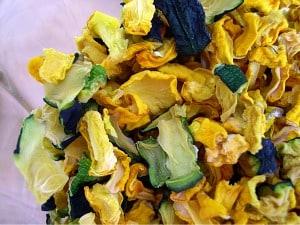 dehydrating foods zucchini diced
