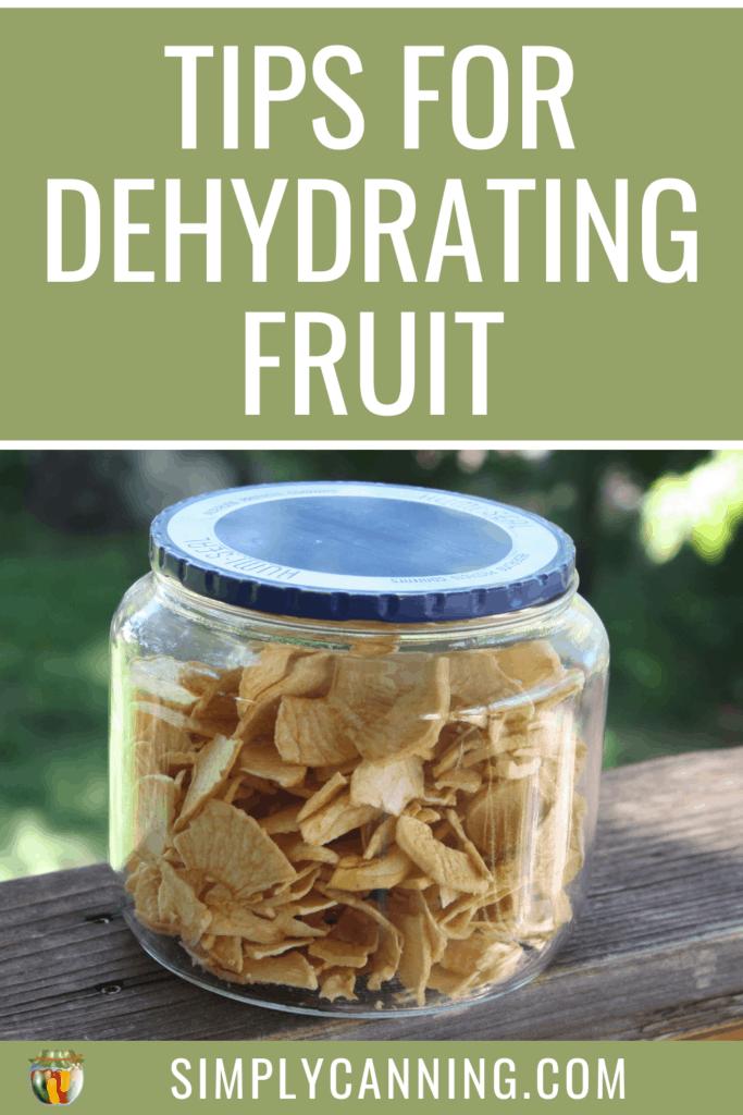 dehydrating fruit pin