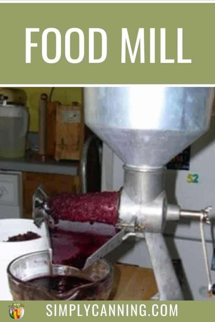 Food Mill or Strainer