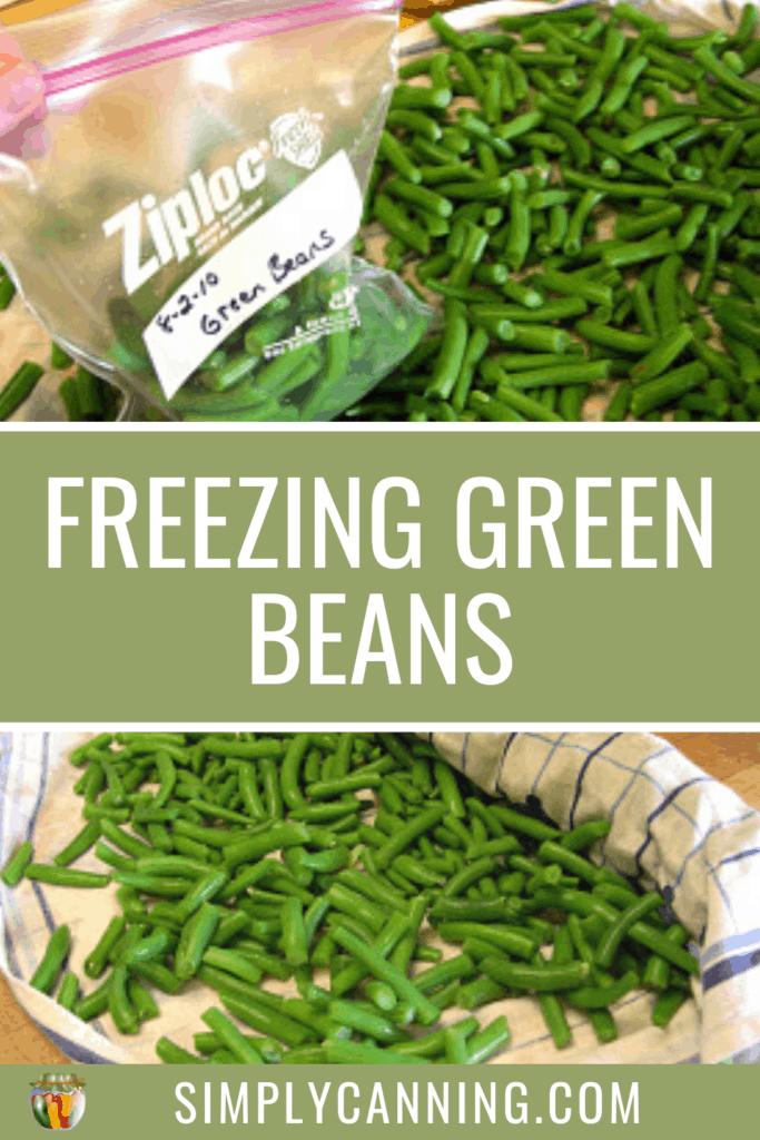 freezing green beans pin