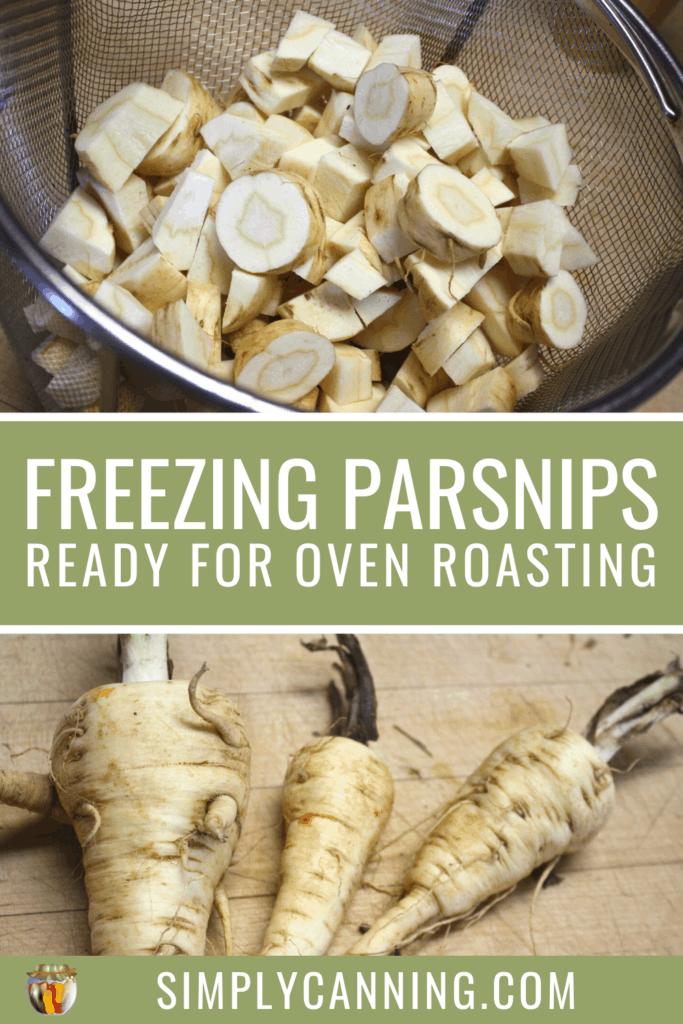 freezing parsnips pin