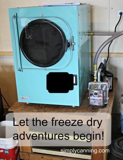 Let the Freeze Dry Adventures Begin