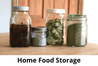 Jars of food prepared for storage.