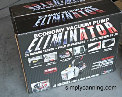 Economy vacuum pump in the box.