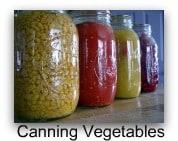 index canning vegetables