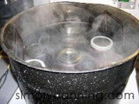 jars in water bath canner