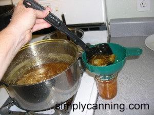 marmalade filling jars