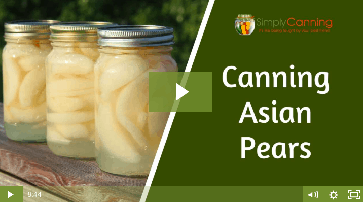 Canning Asian Pears lesson screenshot.