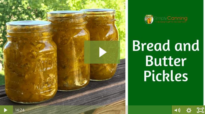 Bread & Butter Pickles lesson screenshot.
