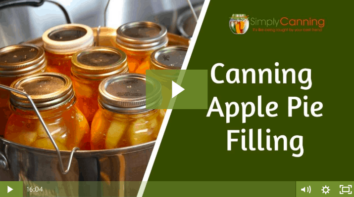 members canning apple pie filling