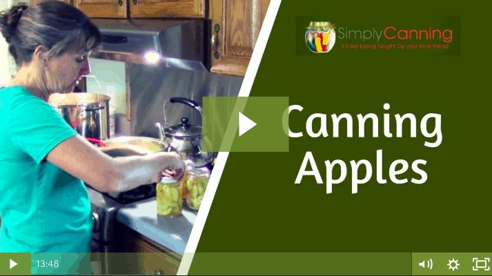 Canning Apples lesson screenshot.