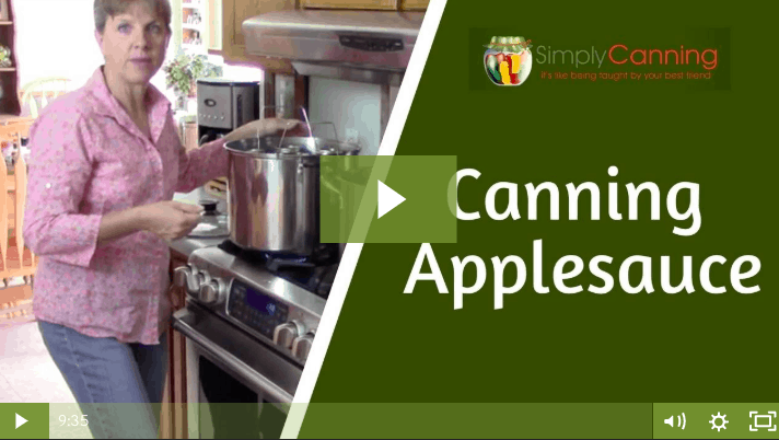 members canning applesauce