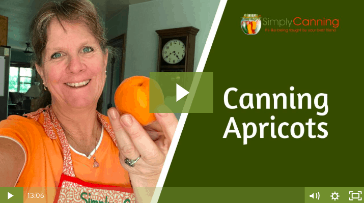 members canning apricots