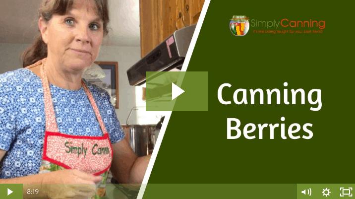 members canning berries