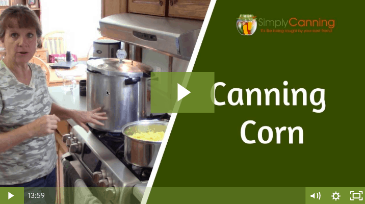 Sharon pointing at a pot of cooking sweet corn linked to member lesson.