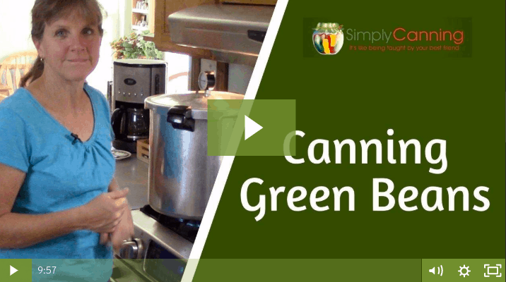 members canning green beans