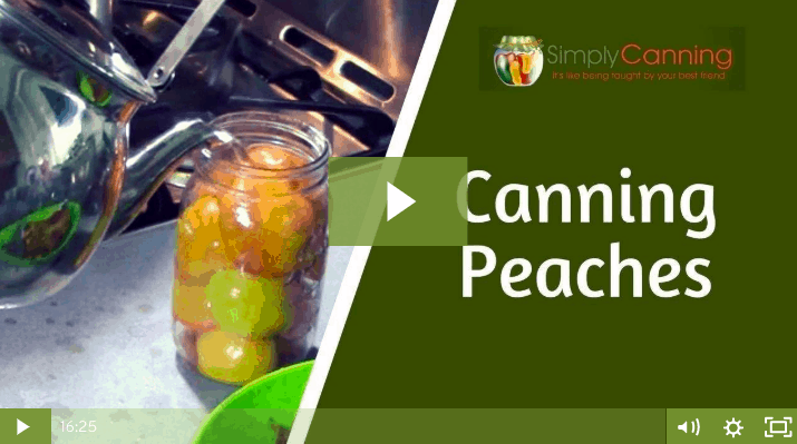 members canning peaches