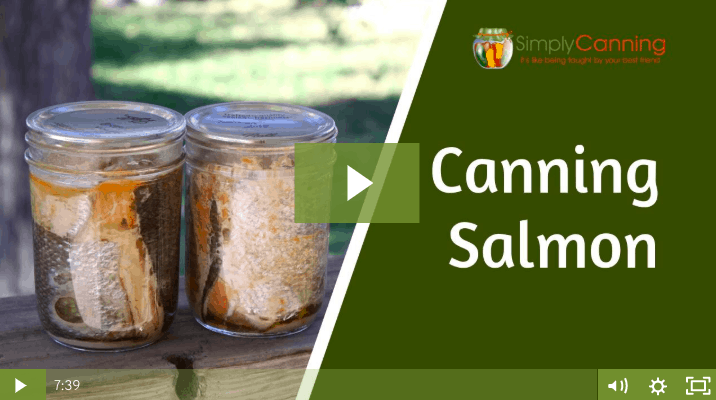 Two small jars of canned salmon linking to member lesson.