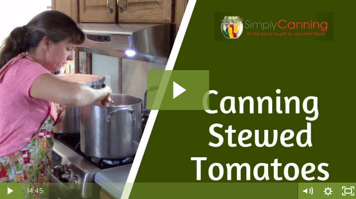 members canning stewed tomatoes