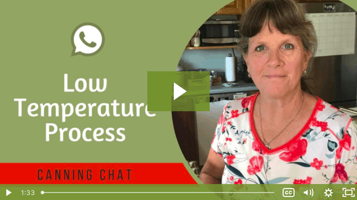 Low Temperature Process Canning Chat lesson screenshot.
