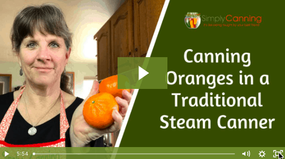 canning orange in traditional steam canner