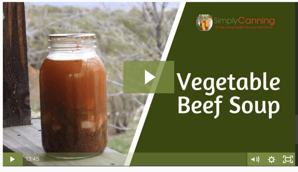 members vegetable beef soup