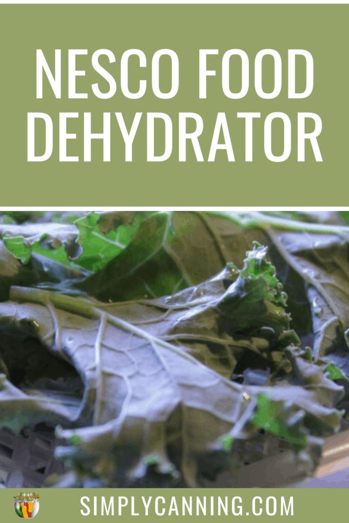 nesco food dehydrator pin