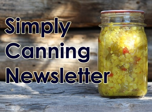 Simply Canning Newsletter