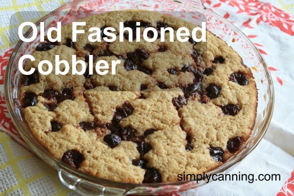 old fashioned cherry cobbler