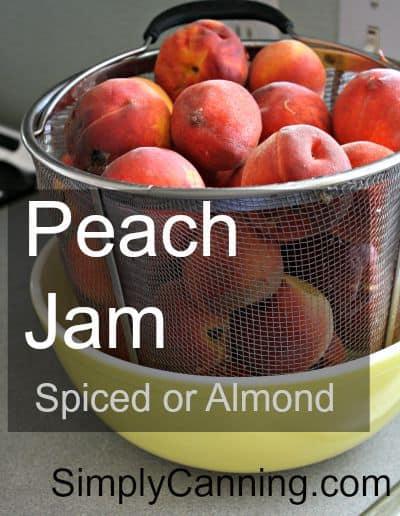 Peach Jam Spiced or Almond