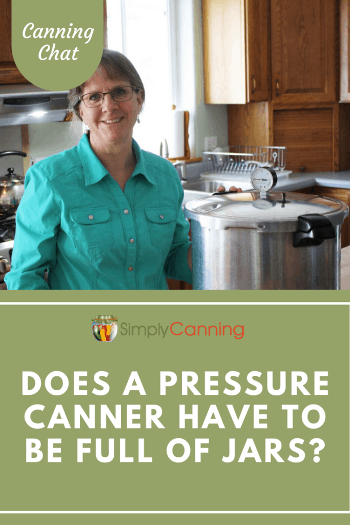 Does a pressure canner need to be full of jars? Or is it safe to process a partial load while pressure canning? Learn the answer in this Canning Chat!