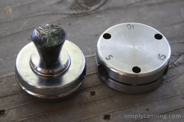 2 styles of weights for a weighted gauge pressure canner.