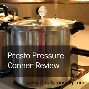 Presto Pressure Canner sitting on the stovetop.