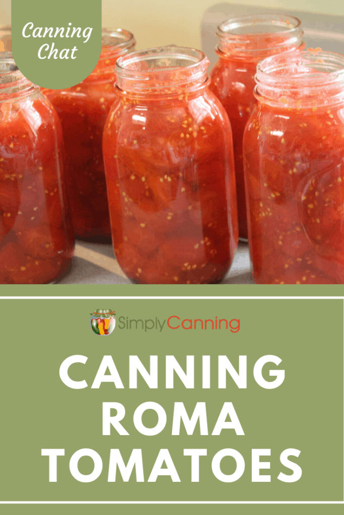 Jars of home canned tomatoes.