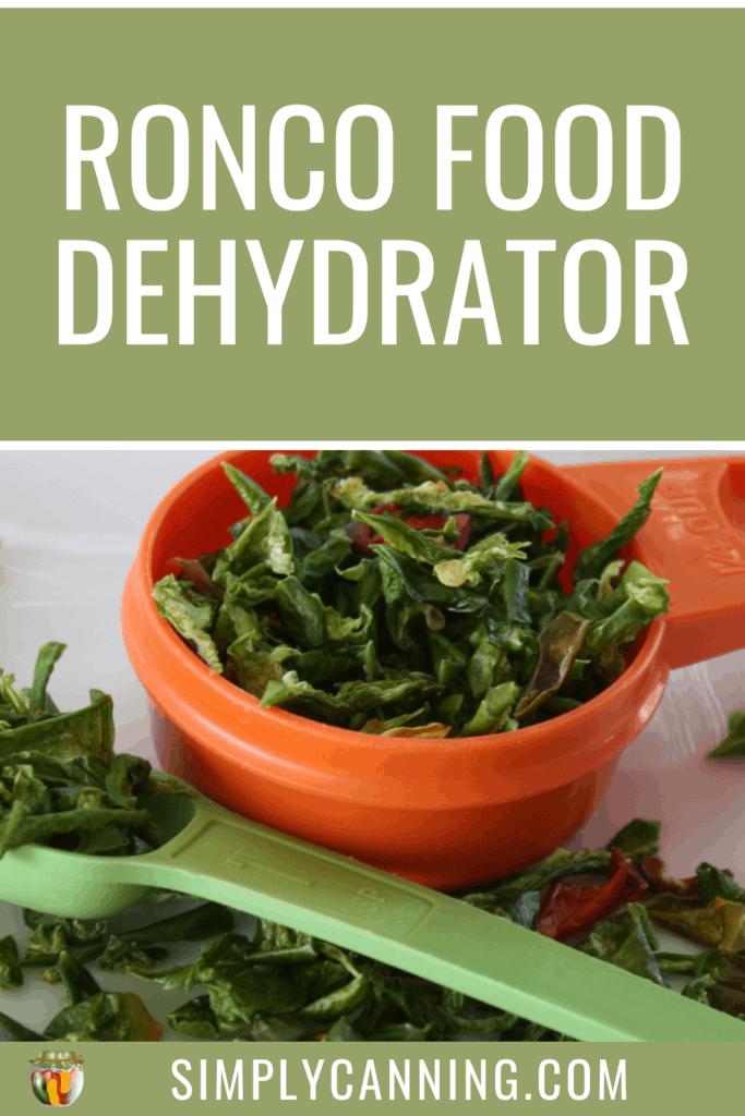 ronco food dehydrator pin