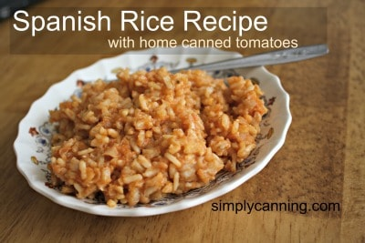 A dish of lovely Spanish rice.