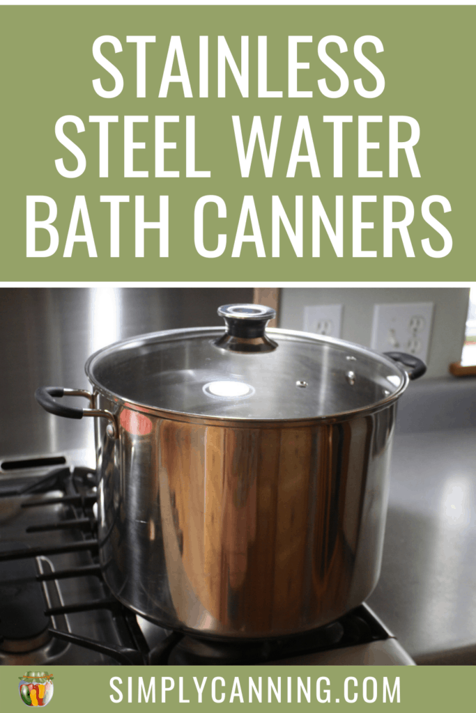 stainless steel water bath canner pin