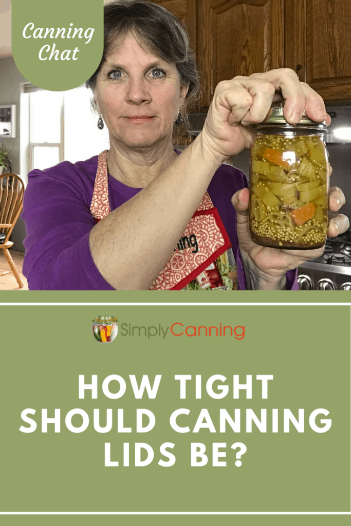 Ever wondered how tight you should screw on that canning lid? Learn the answer in today's Canning Chat about tightening the rings.