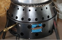 The volcano stove or grill is perfect for outdoor canning, emergency cooking or an easy portable camp stove.