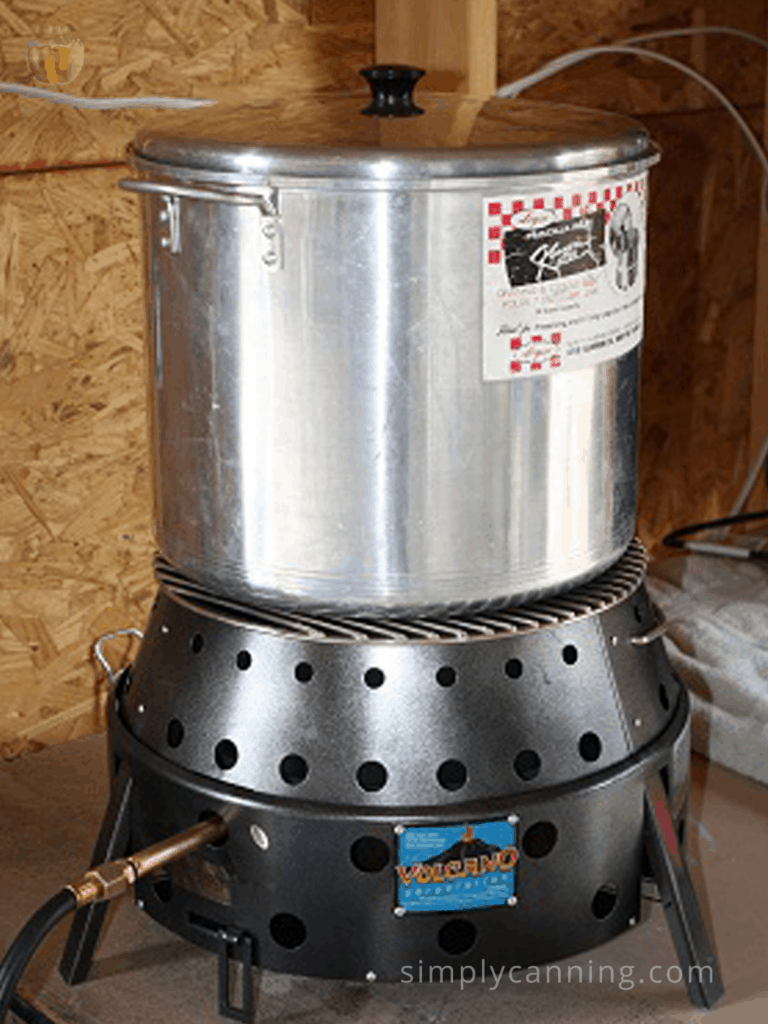 volcano stove/grill used with water bath canner